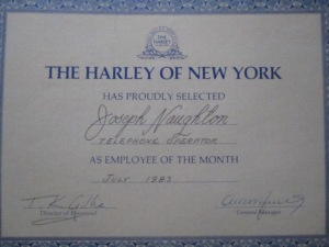 Employee of the Month, July 1983.