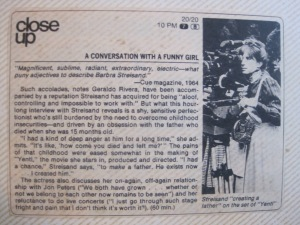 TV Guide would select a featured program on any given night that was worthy of the 'close up' box.  The never had a program more worthy than this.
