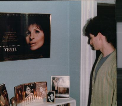 Jeffrey, not a celebrant of the holiday per se, was still able to enjoy the Yentl alter.