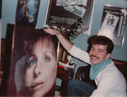 He loved it. When the pictures came back from the drug store John pointed out that he was mirror imaged in the glass of the poster as if he entered the film with Barbra. All very mystical at the time, no doubt.