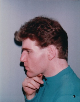 I was very conscious of my neck but John wanted a picture of the hair-cut. So I gave myself a mini-lift, at the age of 23.