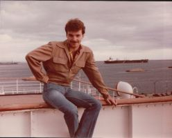 John on the Queen Mary. Early 1980s.