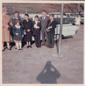 October 1967. That's my mother's shadow.  I would meet John in February 1968 when he joined the Second Grade mid term.