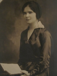 An early portrait of Aunt Kate, taken no doubt soon after she arrived from Ireland.  I always remember her with a book in her hands; and if not a book, an article of clothing that she was working on.