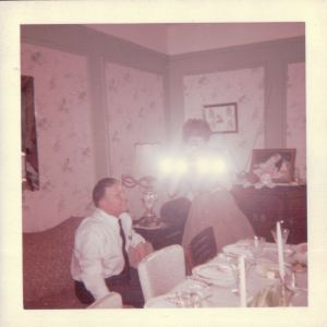 My mother never went anywhere without her floodlights.  She loved taking pictures, filming home movies, and listening to music.  But her kind of music, not mine.