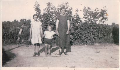 Mom, her brother Joe, and my grandmother. Galway, Ireland.