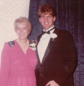 All smiles at my brother's wedding, Nov. 1982.