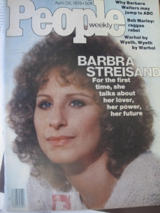 This is the magazine article where John and I first heard of 'Yentl'. This was during the filming of 'A Star is Born'.