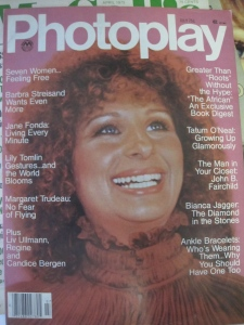 Barbra's Oscar winning moment made the cover of Photoplay.