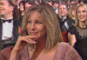Barbra Streisand at the Oscars 1992.