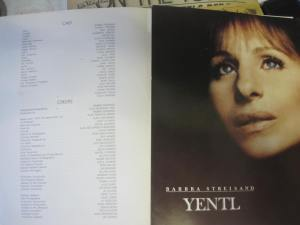 The oversized fabulous program we received at 'Yentl'.