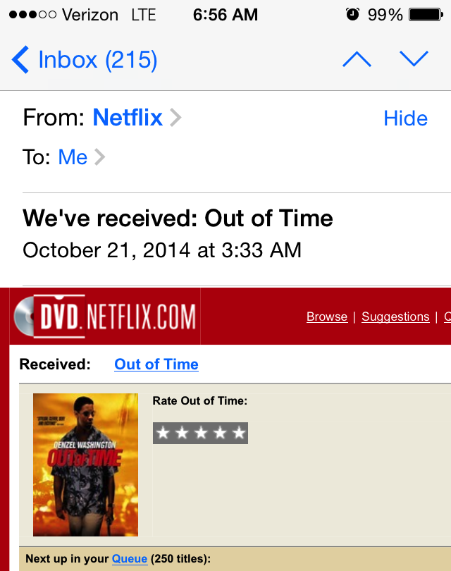 Out of Time Netflix