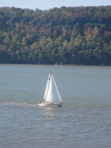 I wonder if they were looking at me or too busy enjoying the safety of being on the water and not up on a mountain.